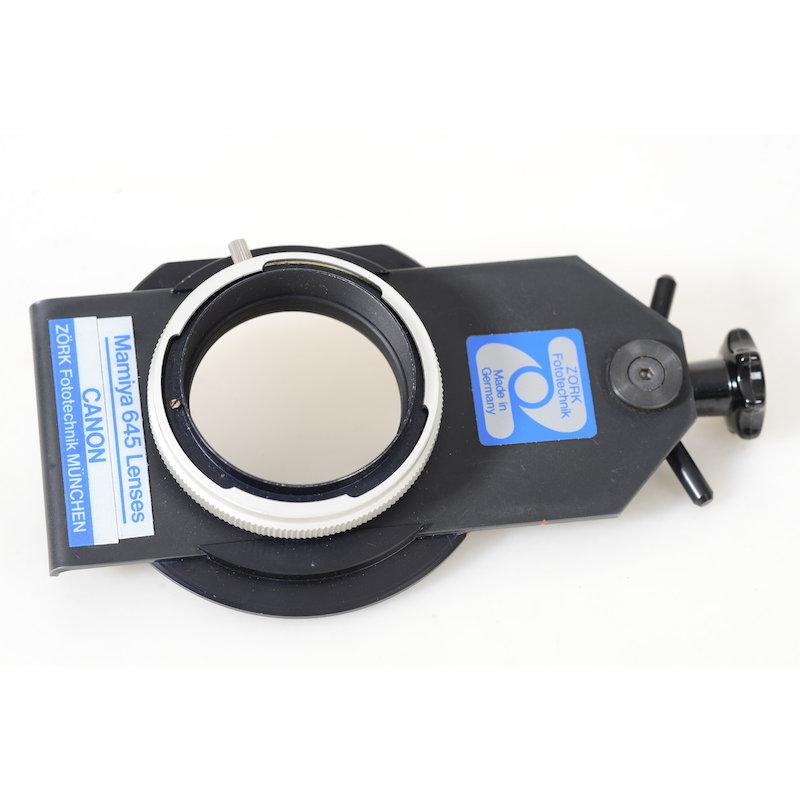 Zörk Shift-Adapter Mamiya 645/Canon FD