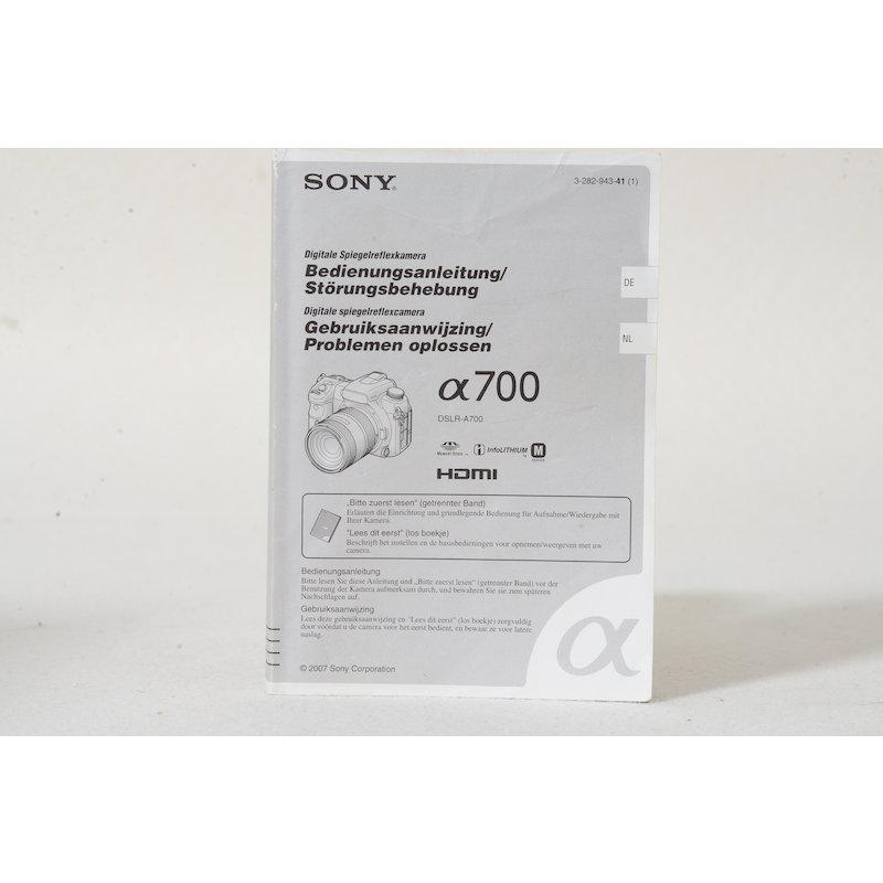 Sony Anleitung Alpha 700