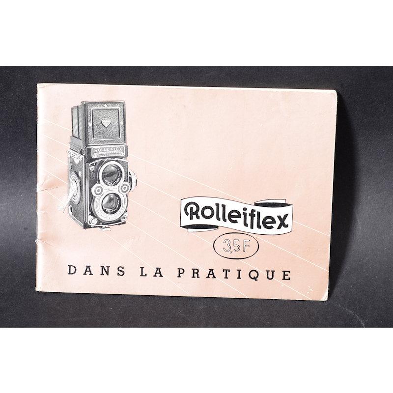 Rollei Anleitung Rolleiflex 3.5F (Französisch)
