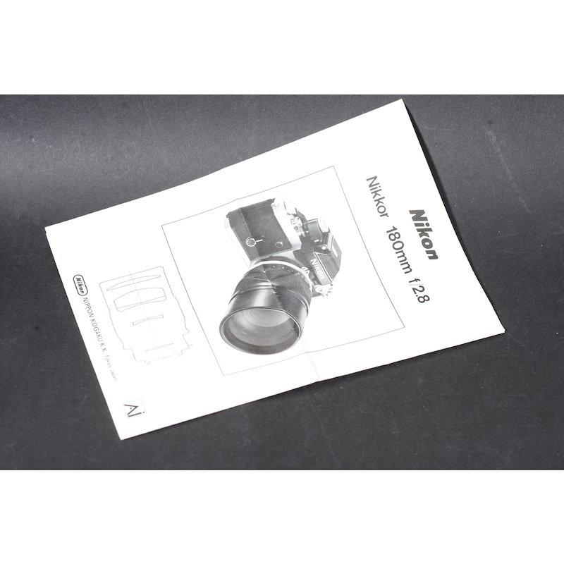 Nikon Datenblatt Ai 2,8/180