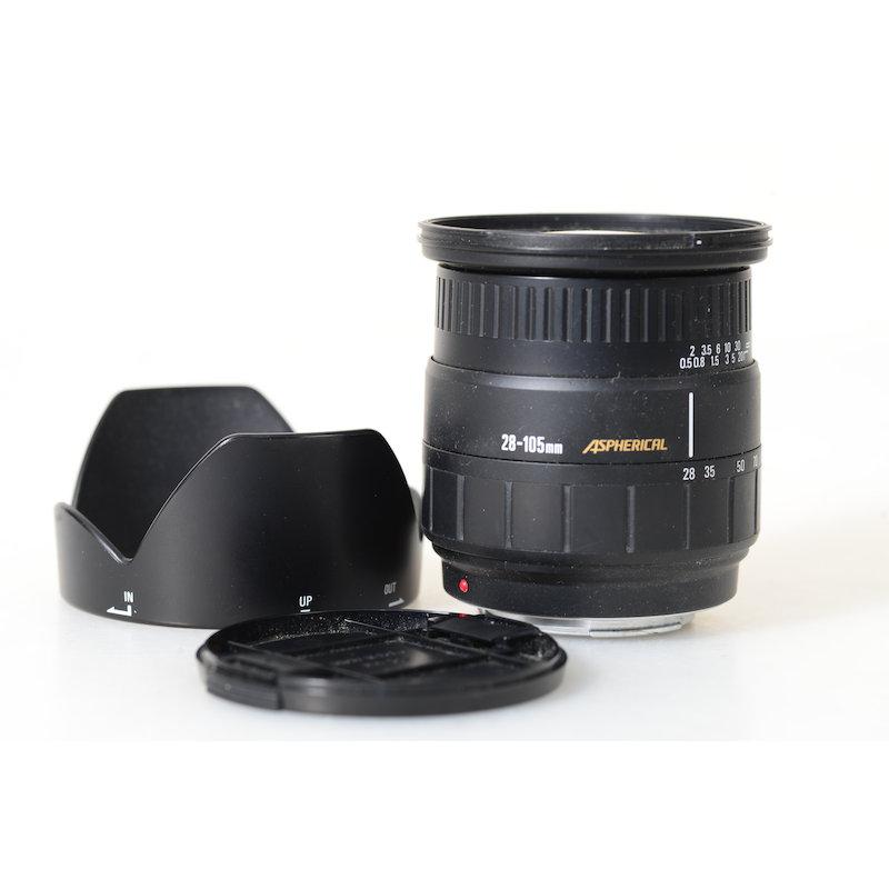 Sigma ASP 2,8-4,0/28-105 MI/AF passt auch für Sony und Konica-Minolta
