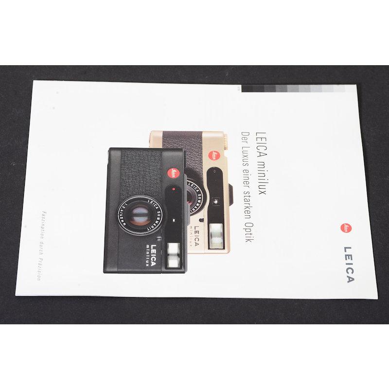 Leica Prospekt Minilux - Der Luxus einer starken Optik