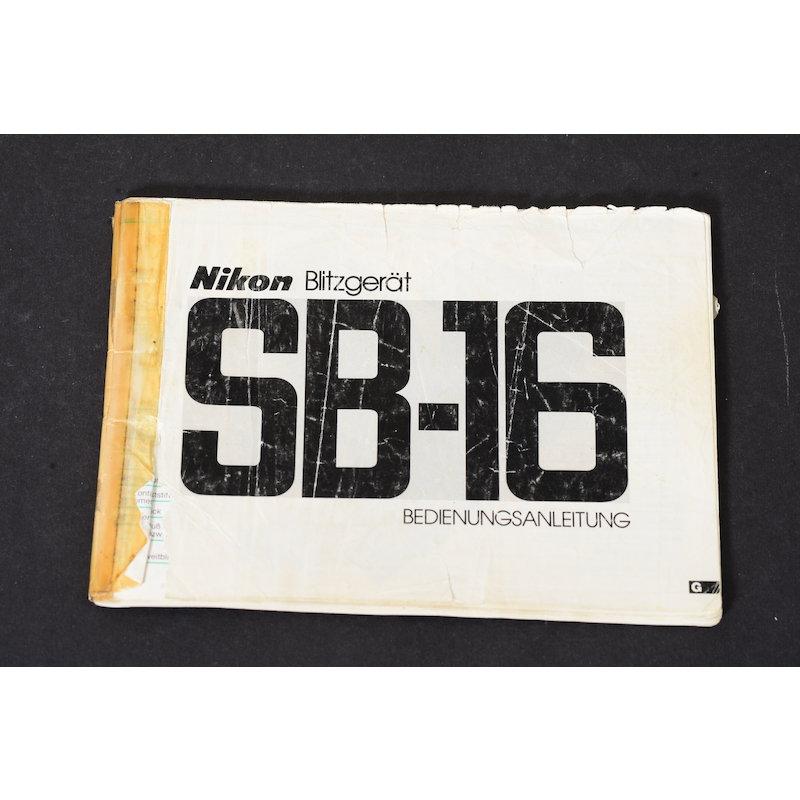 Nikon Anleitung Speedlight SB-16