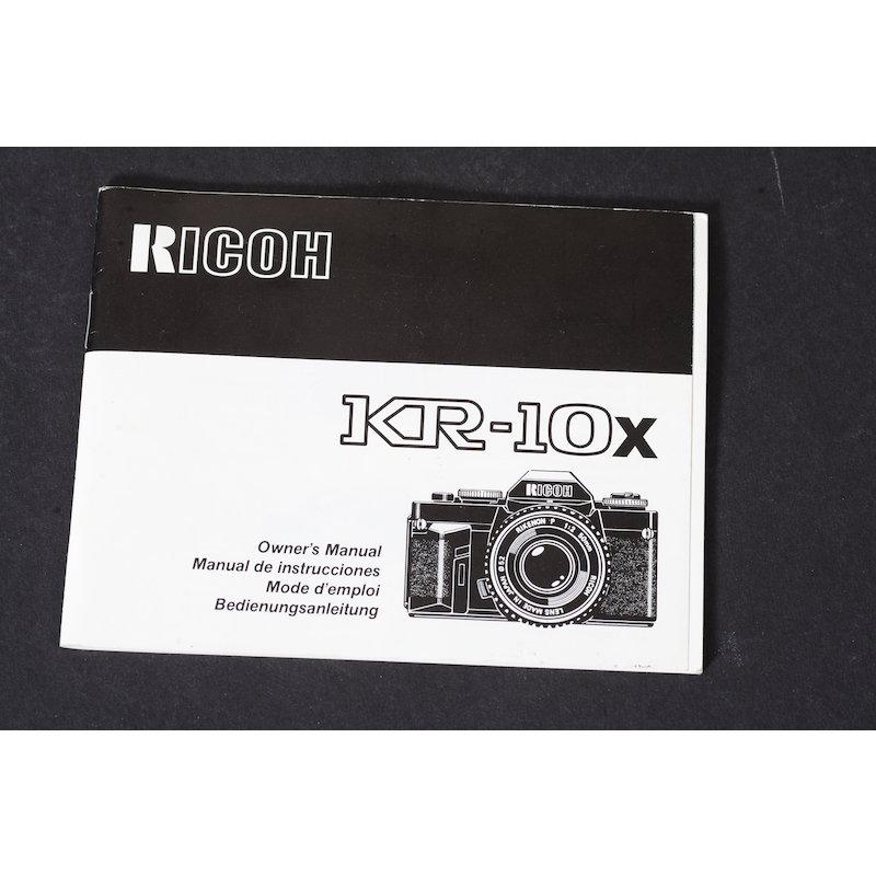 Ricoh Anleitung KR-10X