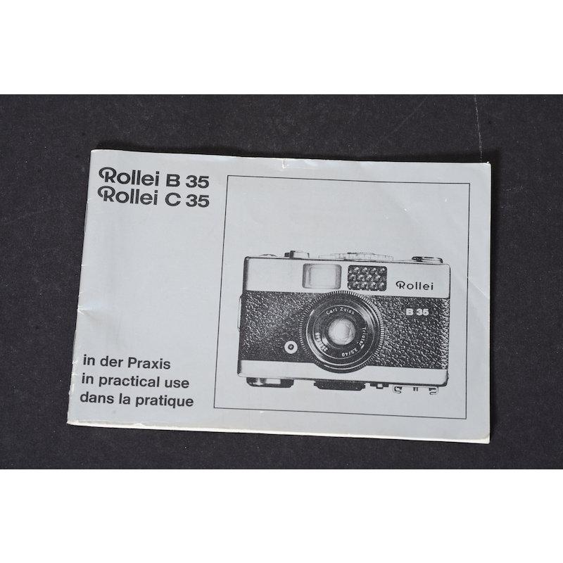 Rollei Anleitung B 35/C 35 in der Praxis
