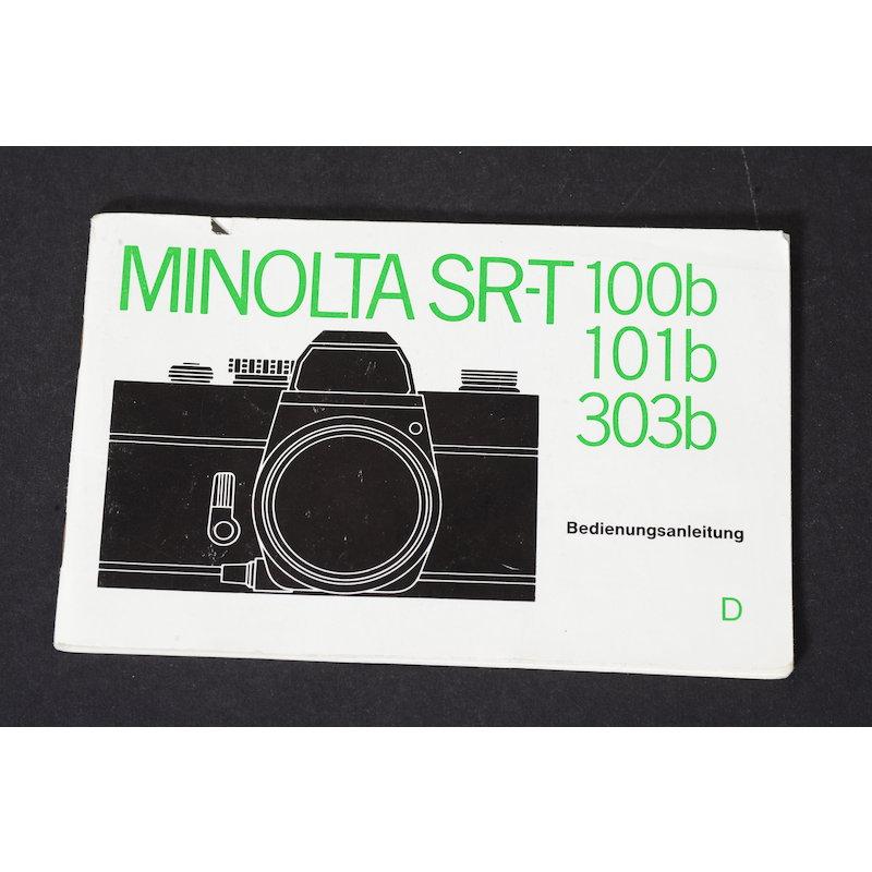 Minolta Anleitung SR-T 100b/101b/303b