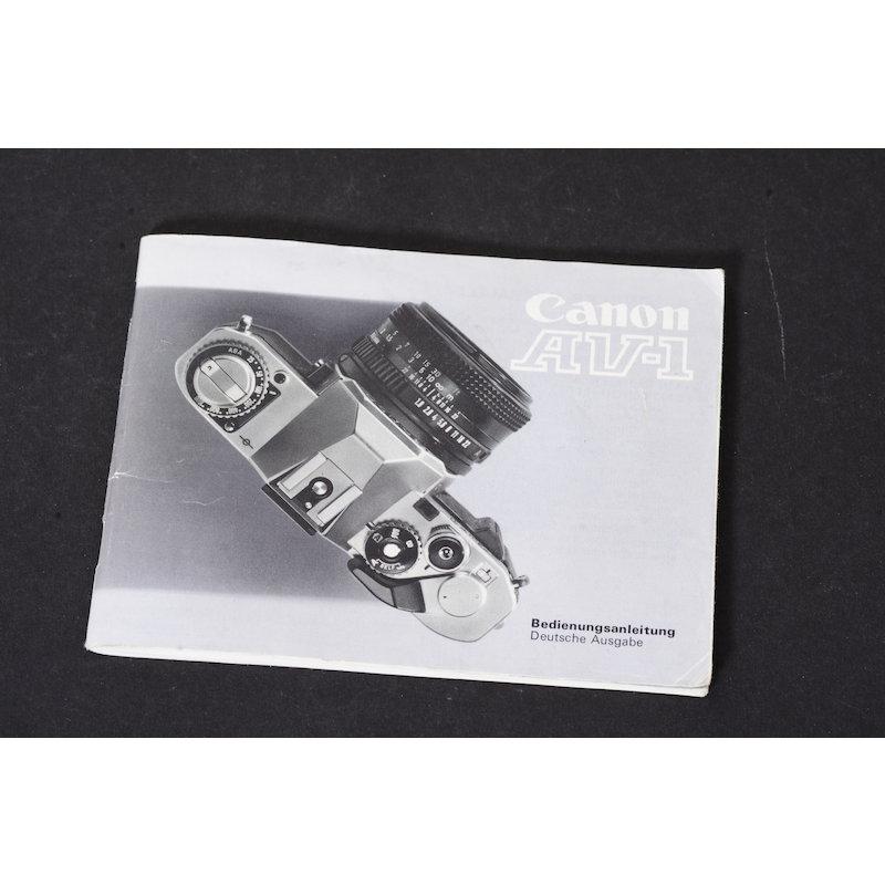 Canon Anleitung AV-1