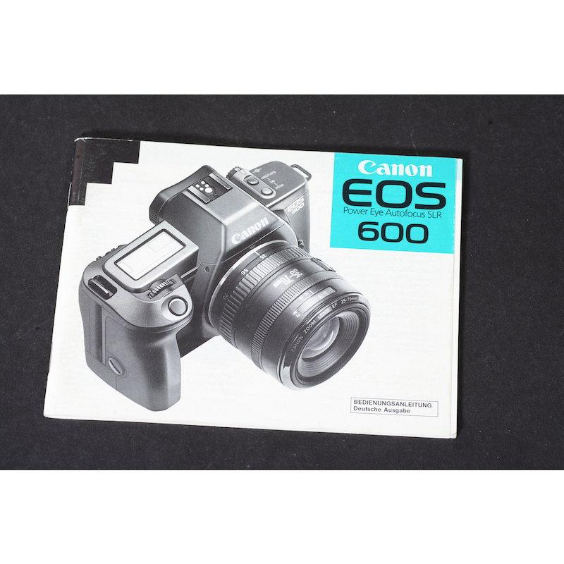 Canon Anleitung EOS 600