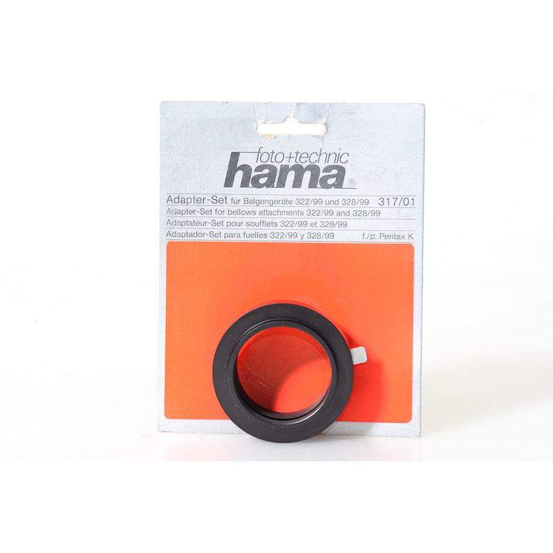 Hama Bajonett+Objektivadapter Shift-Balgen Pentax PK