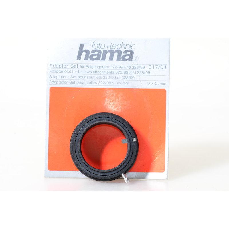 Hama Bajonett+Objektivadapter Shift-Balgen Canon FD