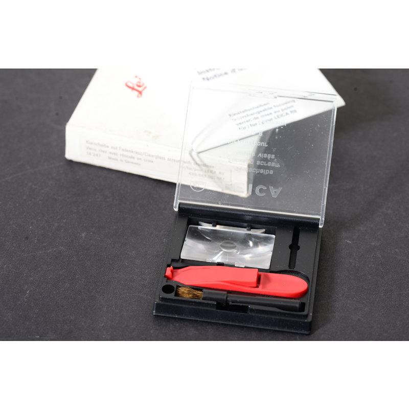 Leica Einstellscheibe Klarscheibe mit Fadenkreuz R8