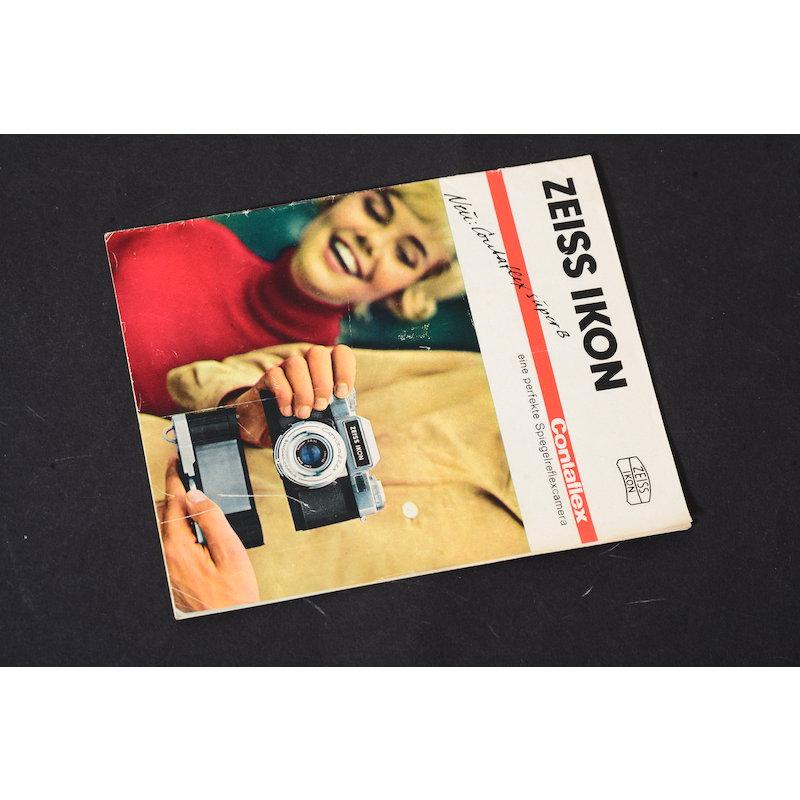 Zeiss-Ikon Prospekt Contaflex eine perfekte Spiegelreflexkamera