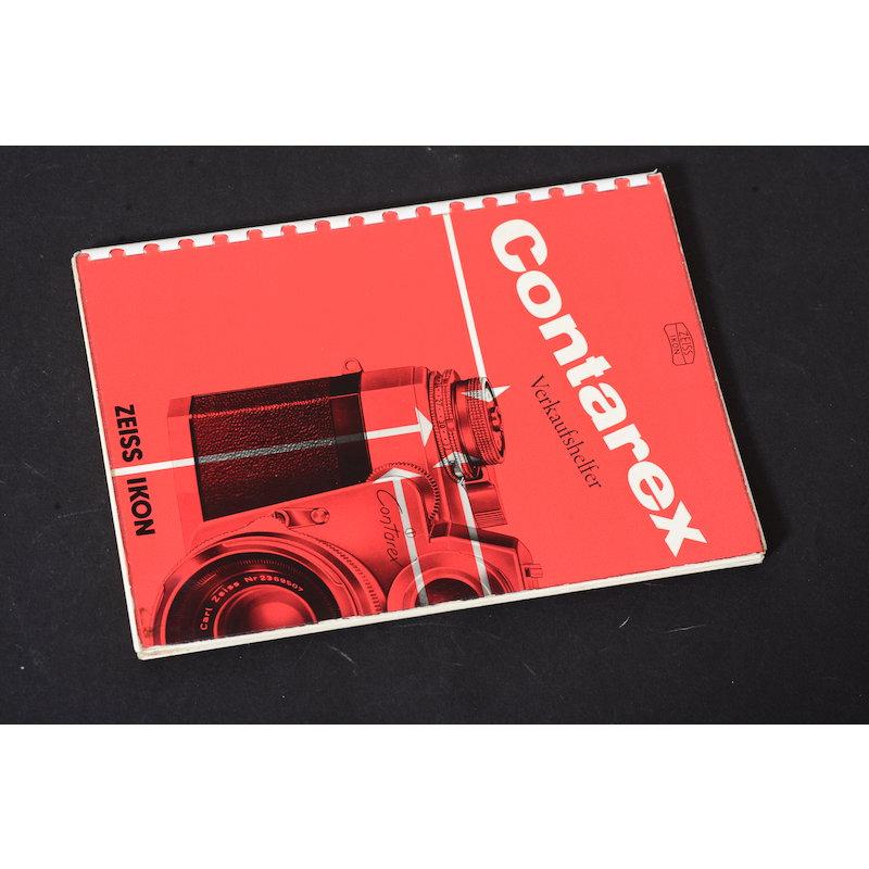 Zeiss-Ikon Prospekt Contarex Verkaufshelfer