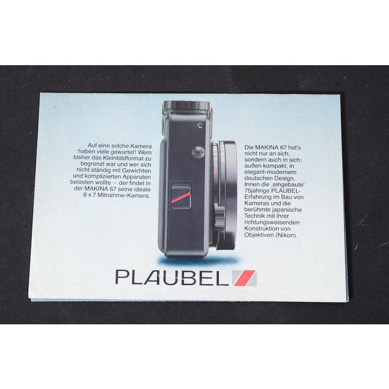 Plaubel Prospekt Makina 67