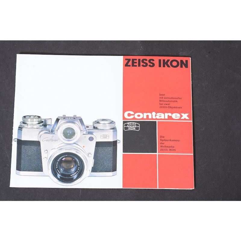 Zeiss-Ikon Prospekt Contarex Jetzt mit sensationeller Blitzau