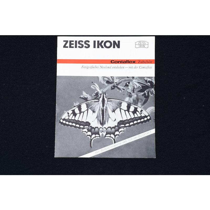 Zeiss-Ikon Prospekt Contaflex Zubehör 1963