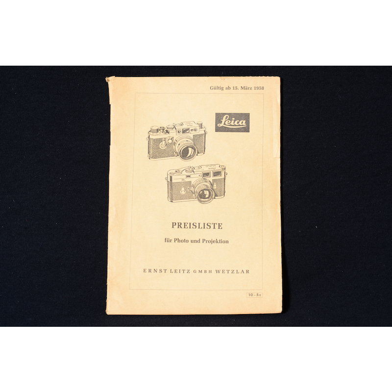 Leica Preisliste 15.03.1958