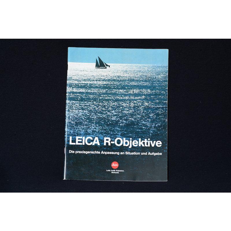 Leica Prospekt Leica R-Objektive 1982