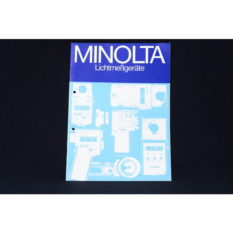 Minolta Prospekt Lichtmeßgeräte 1980
