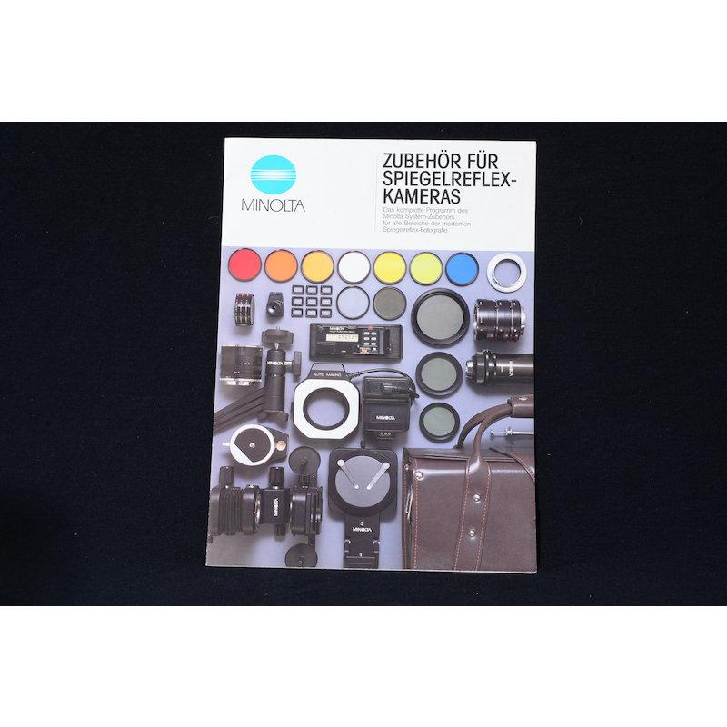 Minolta Prospekt Zubehör für Spiegelreflexkameras MD 1984