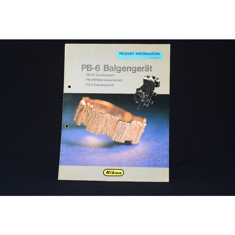 Nikon Produktinformation Balgengerät PB-6