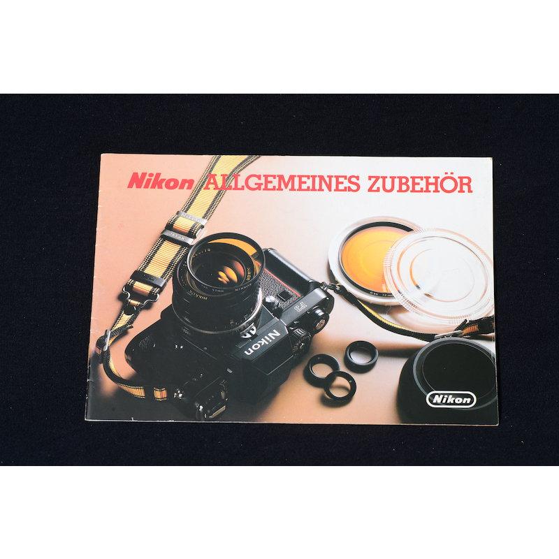 Nikon Prospekt Allgemeines Zubehör 1982