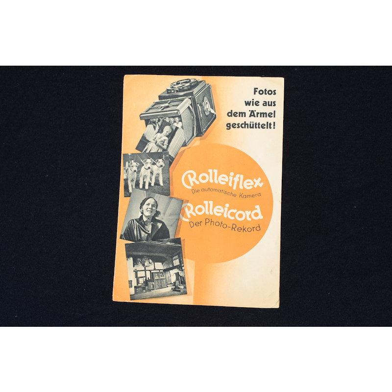 Rollei Prospekt Fotos wie aus dem Ärmel geschüttelt! 1934