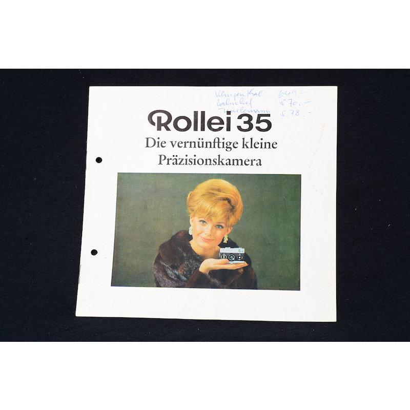 Rollei Prospekt Rollei 35 - Die vernünftige kleine Präzionskamera