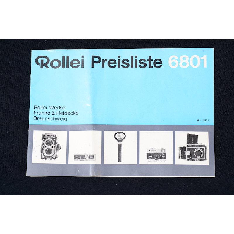 Rollei Preisliste 6801