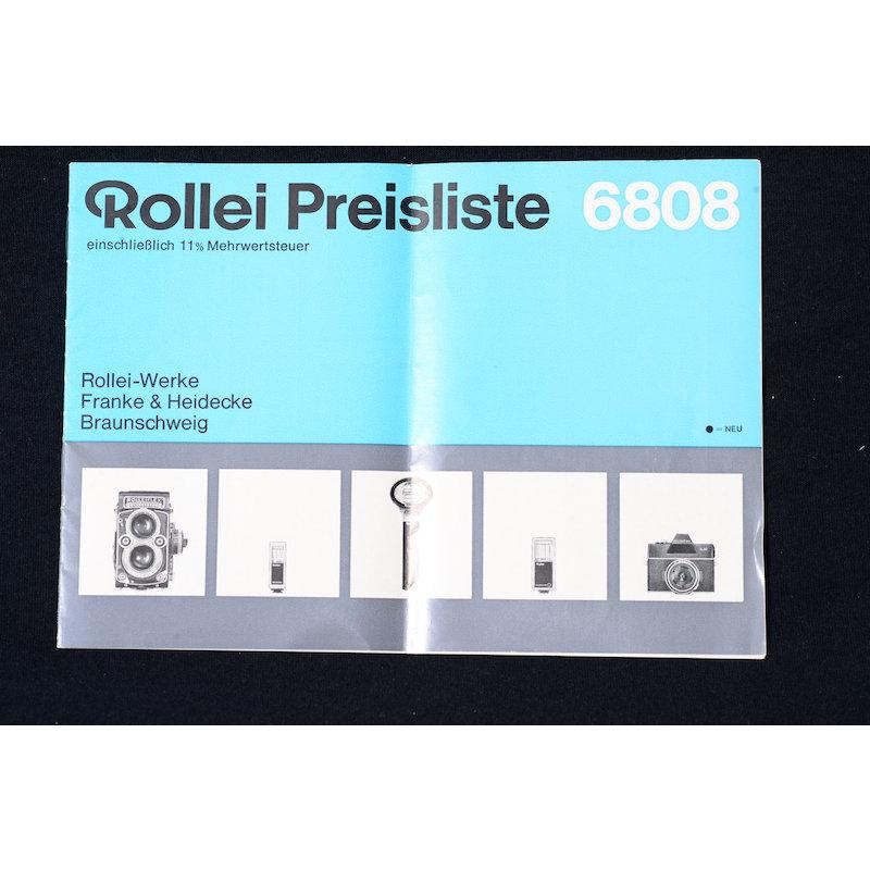 Rollei Preisliste 6808