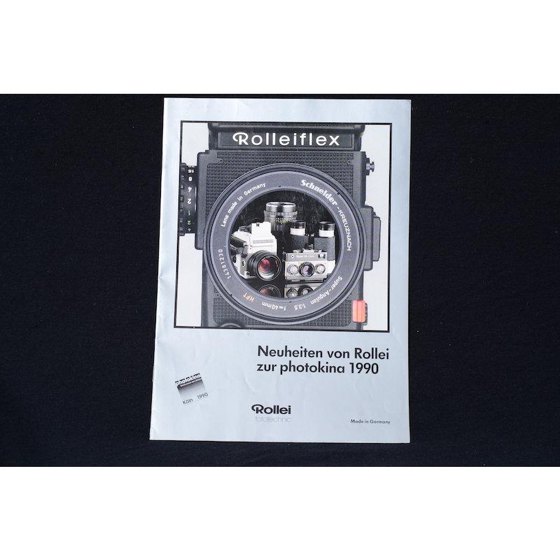 Rollei Prospekt Neuheiten von Rollei zur Photokina 1990
