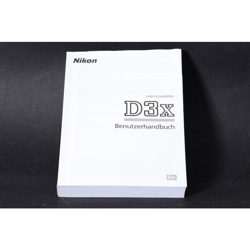 Nikon Anleitung D3X
