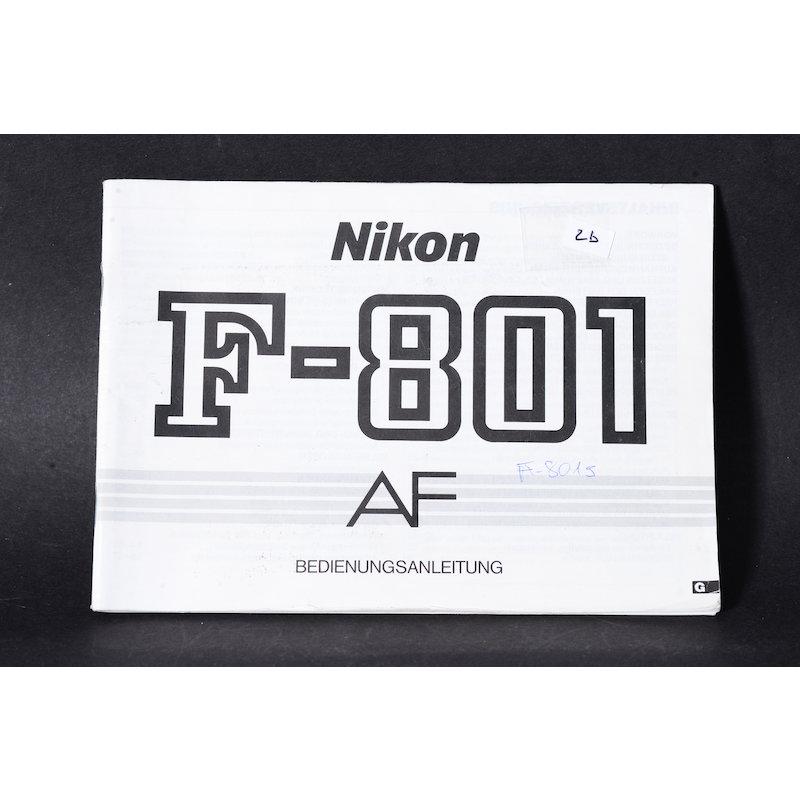 Nikon Anleitung F-801