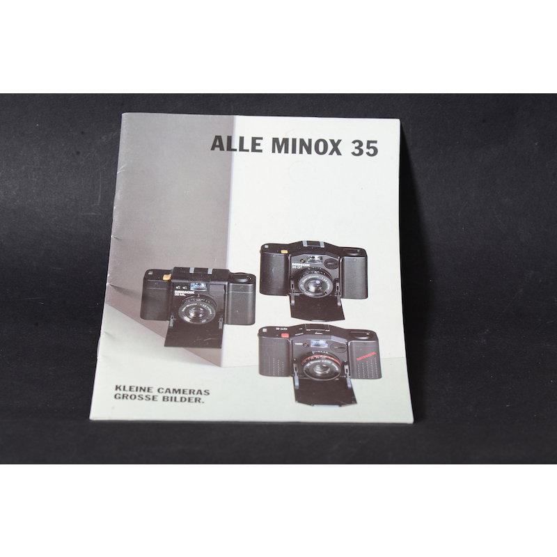 Minox Prospekt Alle Minox 35
