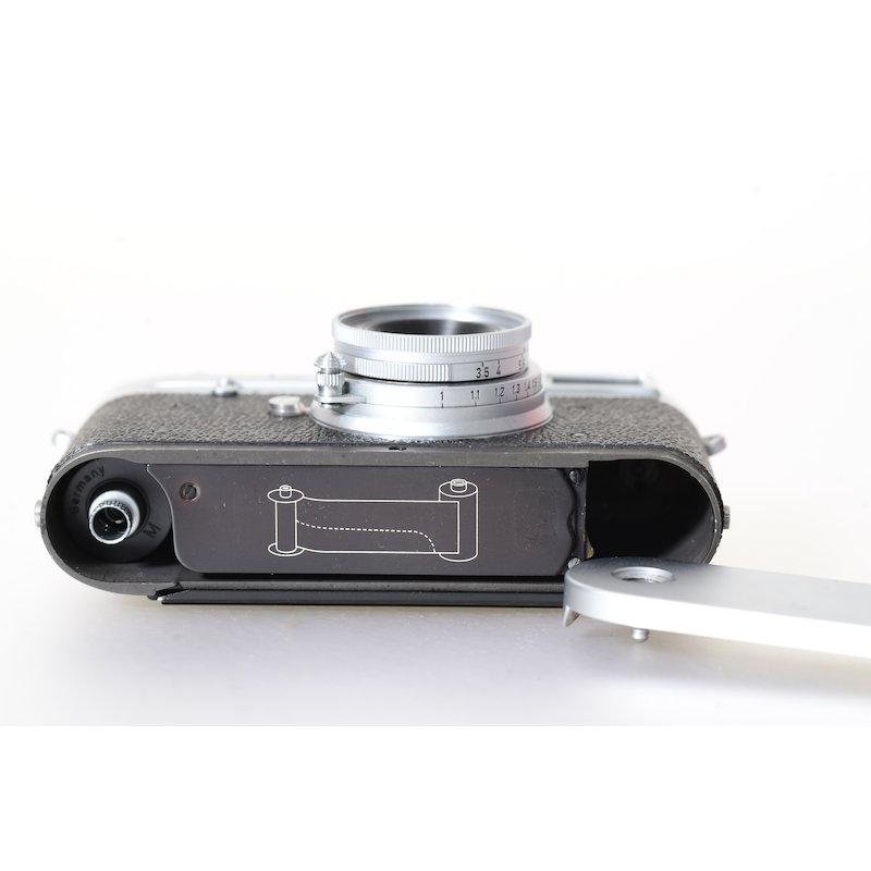 leitz leica m1 fotocamera con elmar 3 5 5cm obiettivo ebay. Black Bedroom Furniture Sets. Home Design Ideas