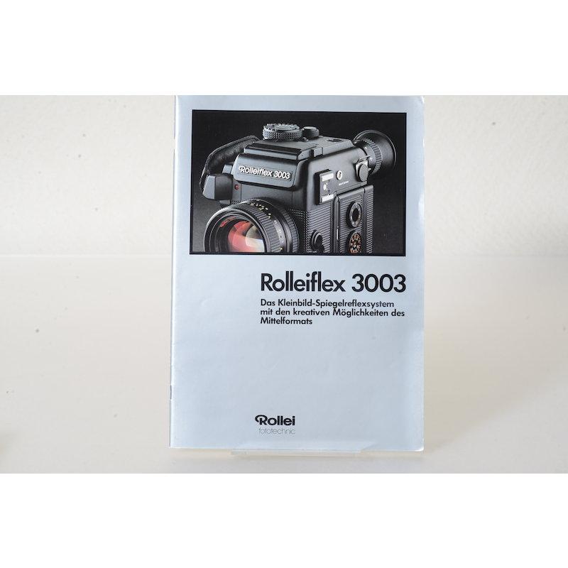 Rollei Prospekt Rolleiflex 3003