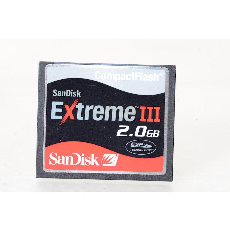 SanDisk Compact-Flash Karte Extreme III 2GB