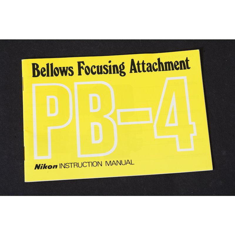 Nikon Anleitung Balgengerät PB-4 (Englisch)