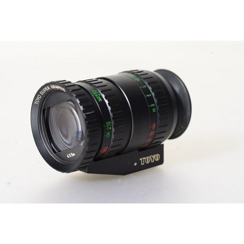 Toyo Universal Zoom Sucher 90-360mm 9x12/4x5