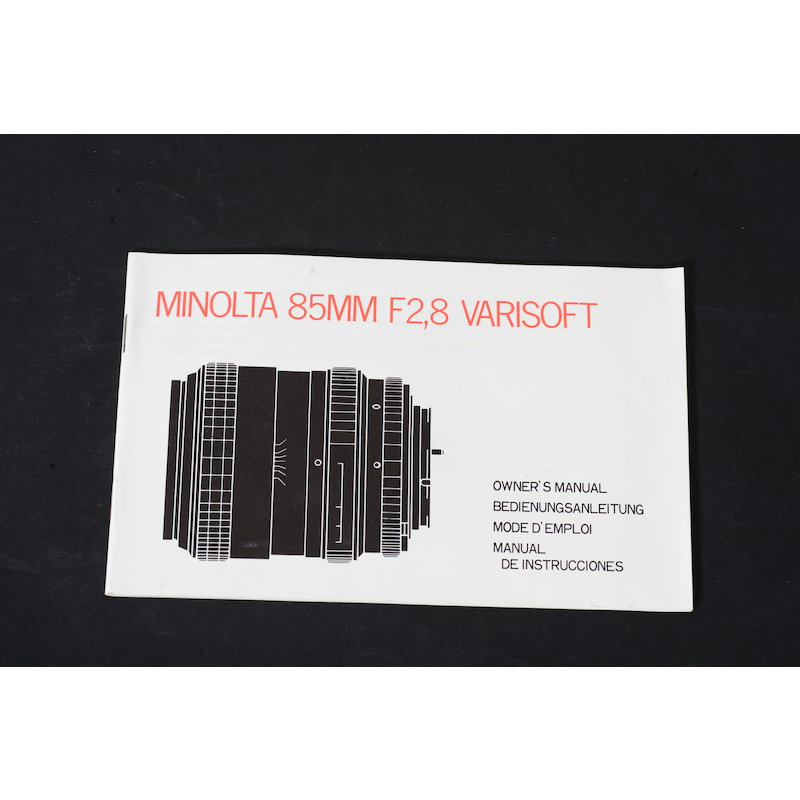 Minolta Anleitung MD 2,8/85 Variosoft