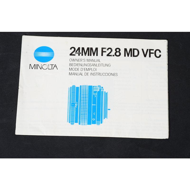 Minolta Anleitung MD 2,8/24 VFC