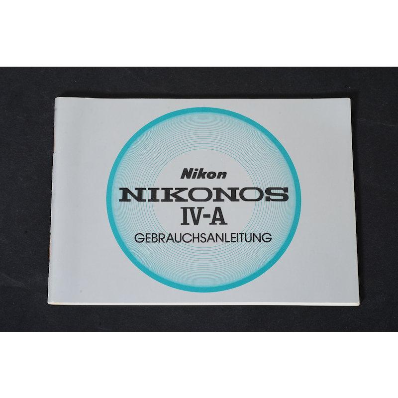 Nikon Anleitung Nikonos IV-A