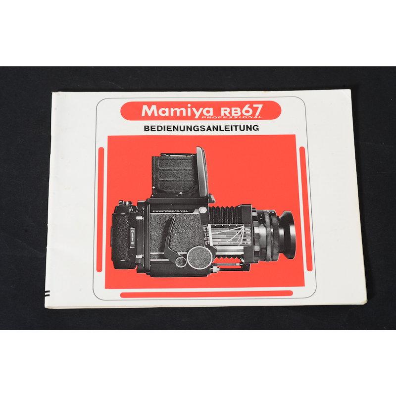 Mamiya Anleitung RB67 Pro