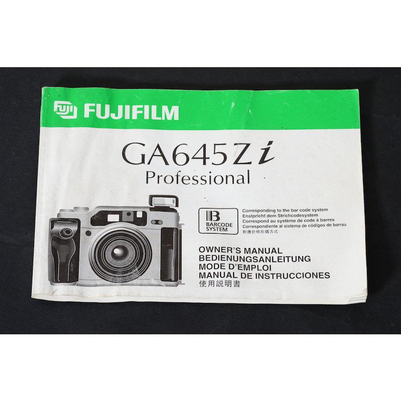 Fuji Anleitung GA 645 Zi