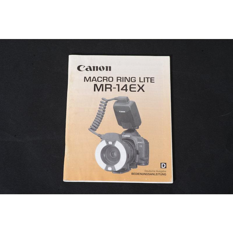 Canon Anleitung Makroringblitz MR-14 EX