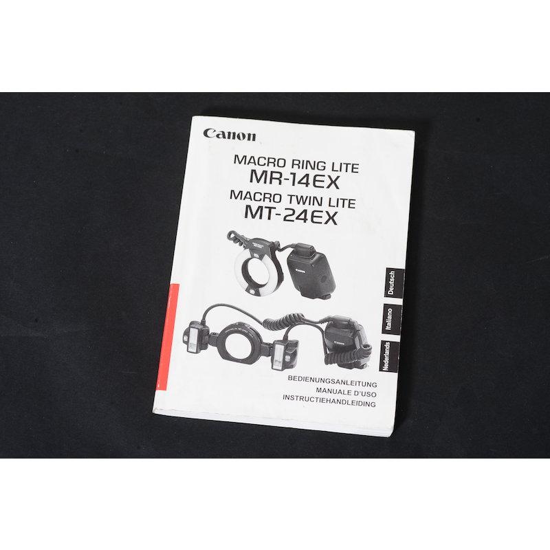 Canon Anleitung Makroringblitz MR-14 EX/MT-24 EX
