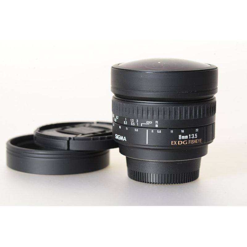 Sigma EX 3,5/8 DG Fisheye NI/AF Kratzer Frontlinse - Keine Beeinträchtigung des sp
