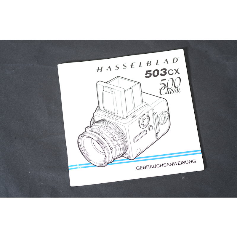 Hasselblad Anleitung 503CX+500 Classic