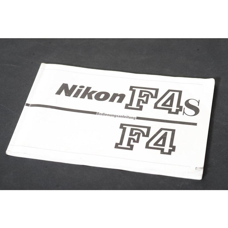 Nikon Anleitung F4/F4s