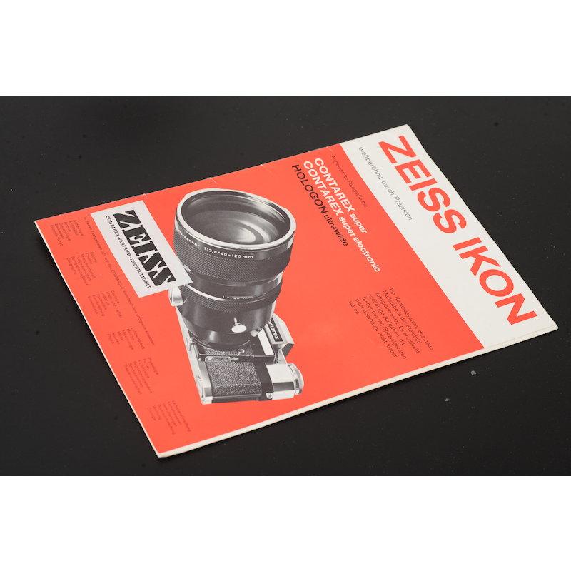 Zeiss-Ikon Prospekt Contarex Super/Super Electronic/Hologon Ultrawide